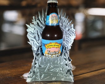 Iron throne beer holder - game of thrones drink holder - man cave - shower beer holder - john snow - mother of dragons