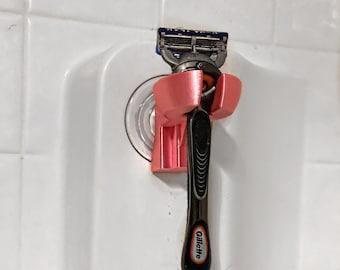 Shower Razor Holder - Suction Cup Holder - Bathtub Caddy - Bathtub Razor Blade Holder - Personalized Gift - Shower Storage - Grooming Gift