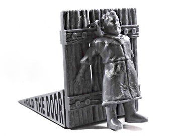 Game of Thrones Hold the Door Stop - GOT Gifts - Best Honor Doorstop - Stocking Stuffer - Winter is Coming - GOT Door Wedge - White Elephant