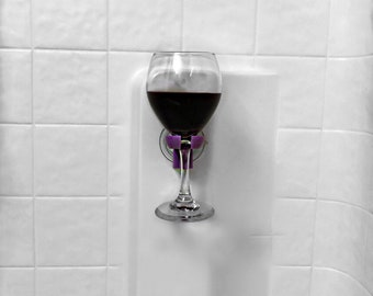 Special 4 Pack | Stocking Stuffer | Wine Glass Holder | White Elephant Gifts| Bath & Shower| Unique Wine Rack | Champagne Glass Holder