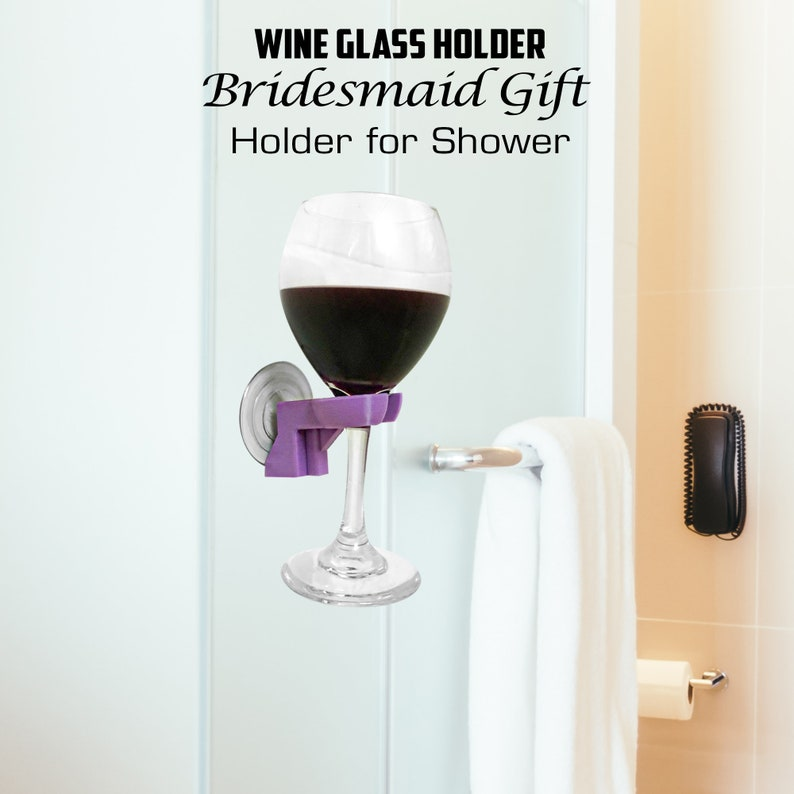 Bath Wine Holder  Bathtub Caddy  Wine Glass Rack  Wine image 0