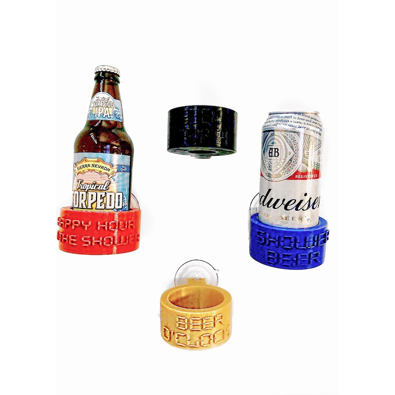 Shower Beer Holder  Stocking Stuffer  Bathtub Beer Mug  image 3