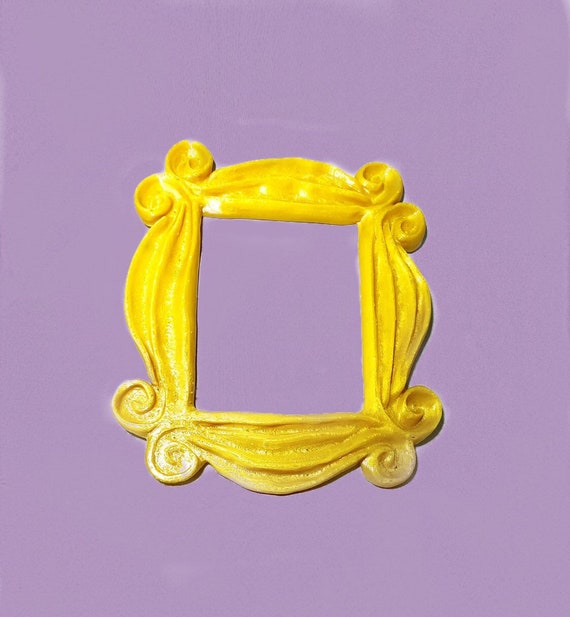 Friends Tv Show Peephole Frame 3d Printed Frame Yellow Etsy