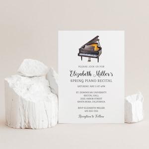 Digital Invite School Event INSTANT DOWNLOAD Church Piano Music Performance Concert Invitation EDITABLE Piano Recital InvitationFlyer