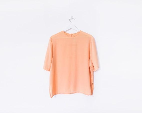 Vintage 80s Peach T-shirt, Size 16