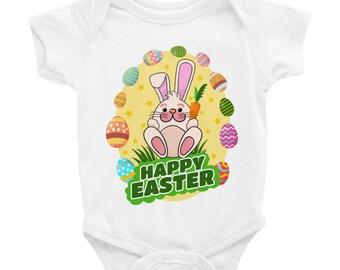 Babies Easter Bunny Happy Easter Bodysuit