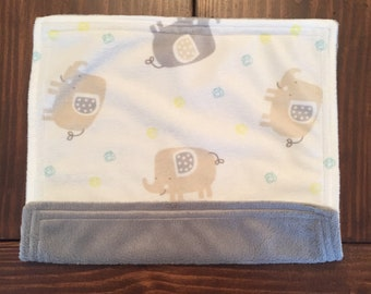 Lovey Minky Blanket / Doll Blanket - Elephant