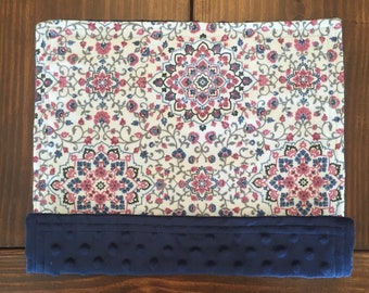 Lovey Minky Blanket / Doll Blanket - Geometric Flower