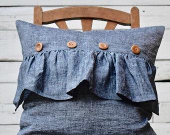 Linen pillowcase. Zip closed pillowcase. Organic pillow cover. Natural linen pillowcase. Stonewashed linen pillow case. Linen pillow cover