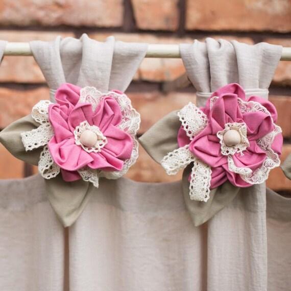 Boho Chic Curtains, Modern Farmhouse Curtains, Rustic Curtains, Hippie Boho Curtains, Linen Curtains, Natural Curtains, Vintage Chic Curtain