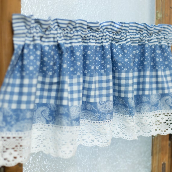 Country kitchen valance, country cafe curtain