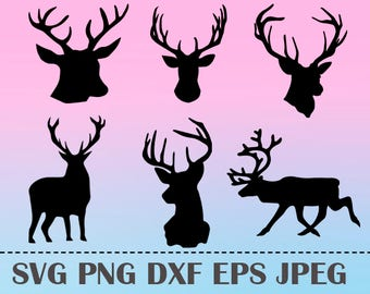 SVG Сhristmas reindeer Vector Layered Cut File Silhouette Cameo Cricut Design Template Stencil Vinyl Decal Tshirt Heat Transfer Iron on