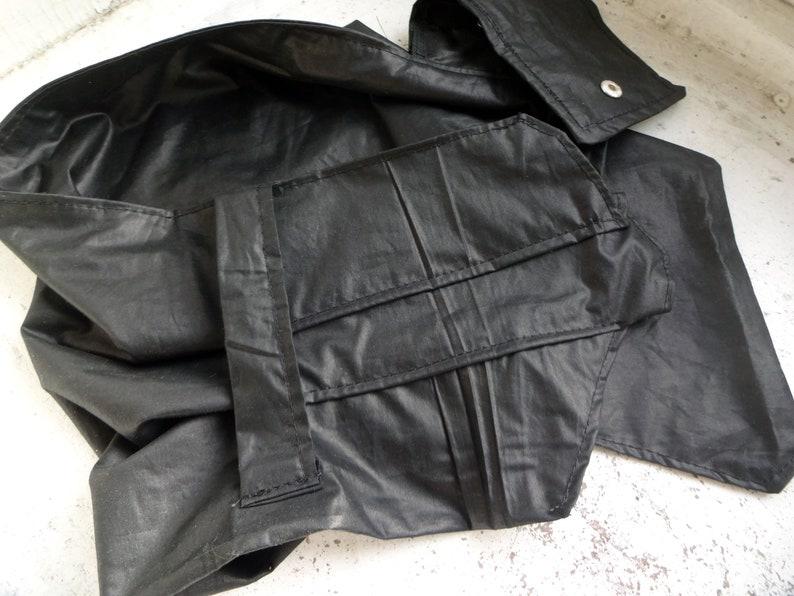 Black Cotton Scarf   Apocalyptic style Black Collar  Asymmetric Scarf   Gift for Her  Asymetric Collar  Modern  Black Cotton Colar