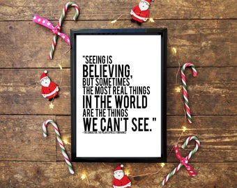 The Polar Express Christmas Quote Wall Print