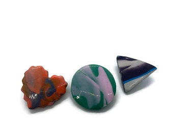 Marble Marbled — Brooch Clay Pins
