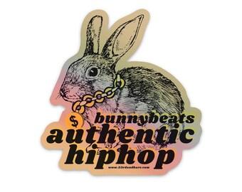 Authentic Hiphop Bunny Beats — Vinyl Sticker