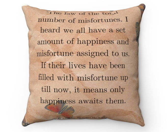 Law of Misfortune Suede Pillow
