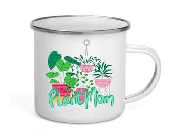 Plant Mom — Enamel Mug