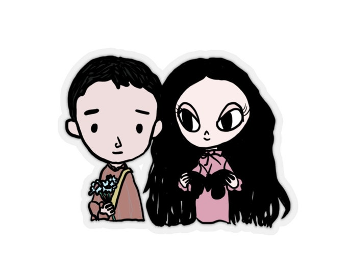 Empty Can Princess and the Zombie Kid Sticker
