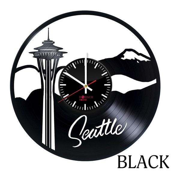 30 cm Handmade Coraline Cartoon Vinyl Record Wall Clock Fan Art Decor Unique Decorative Vinyl Clock 12