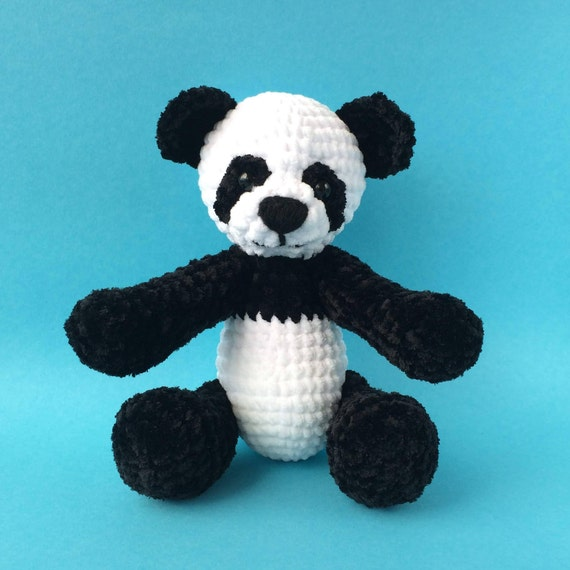 Crochet Big Panda Bear Amigurumi Handmade Stuffed Toy Etsy