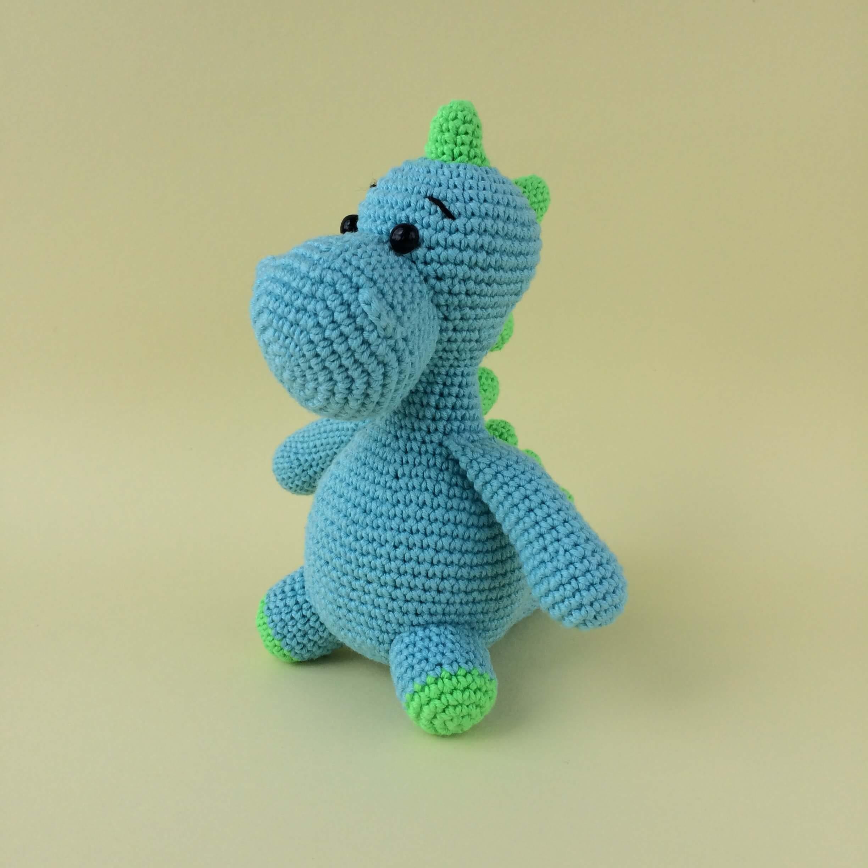 Red Heart Stellan and Stanley Crochet Dinosaur   Yarnspirations   2448x2448
