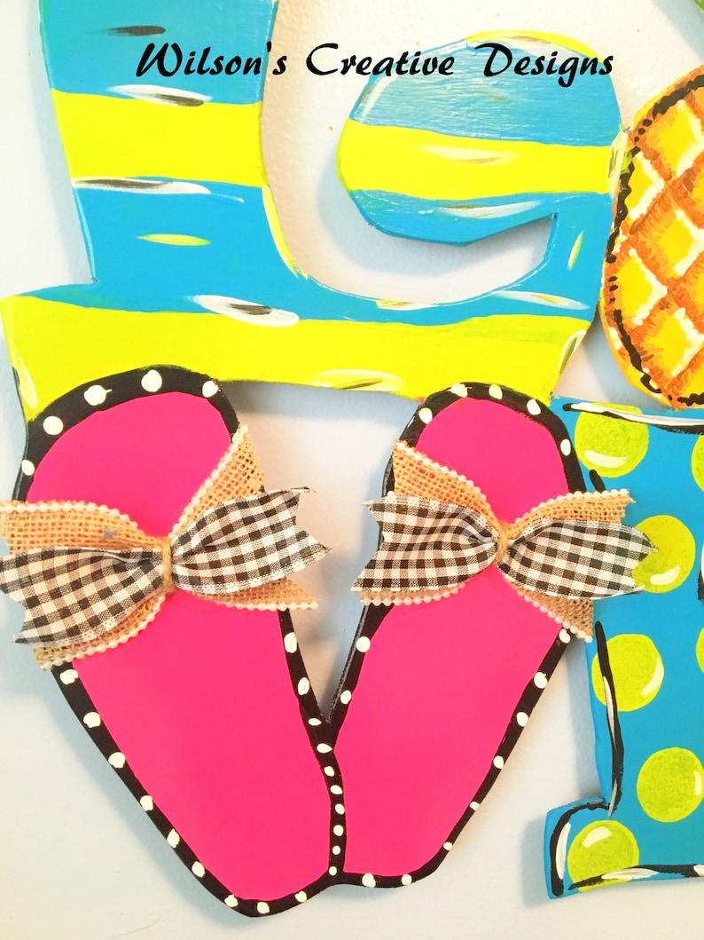 Summer Door Hanger LOVE Door Hanger Door Hanger Flip Flop Door Hanger Pineapple Door Hanger Beach Door Hanger