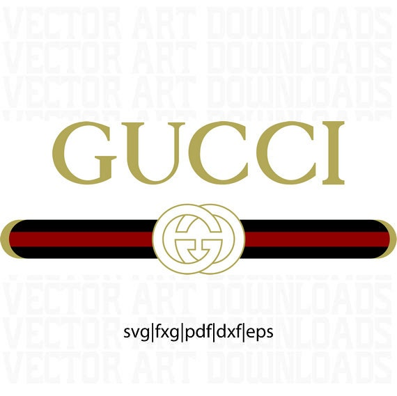 gucci washed inspired logo vector art dxf eps svg png etsy