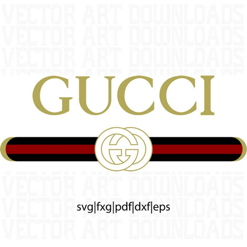 faa2be73 Gucci Washed Inspired Logo Vector Art DXF EPS SVG png | Etsy