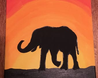 Elephant silhouette / outline painting