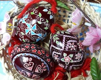 One Artisanal Hand-Carved Easter Egg Ornament - Traditional Slovenian Drsanka (Great Gift for Christmas or Easter!)