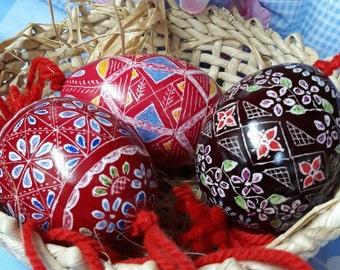 One Artisanal Hand-Carved Easter Egg Ornament - Slovenian Drsanka (Great Easter Gift!)