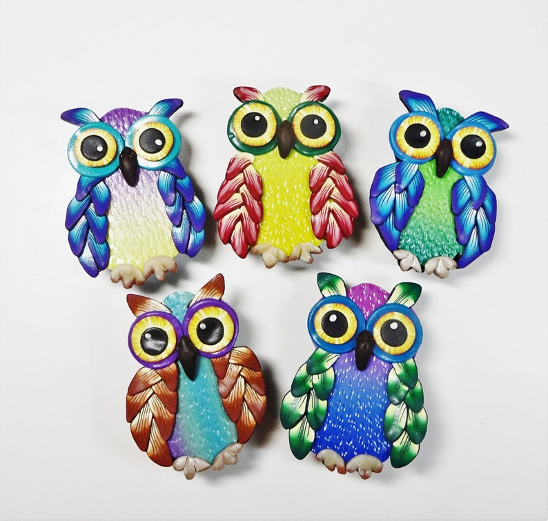 Fun and Colourful Owl BroochTutorial Owl Brooch Tutorial image 0