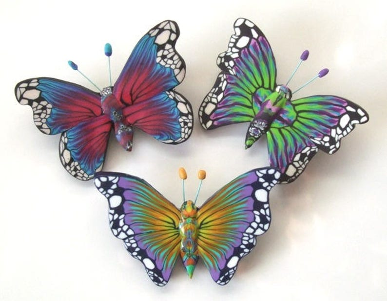 Butterfly Brooches Tutorial Polymer Clay Tutorial PDF image 1