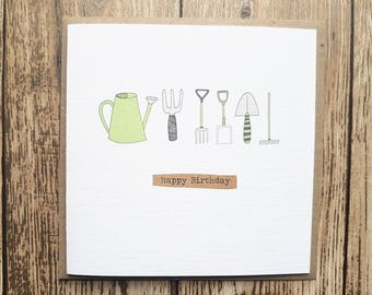 Garden Tools Birthday Card