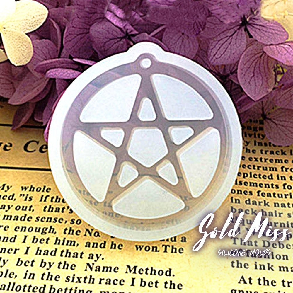 Pagan Jewelry Silicone Mold Wiccan Jewelry Free Shipping Moon