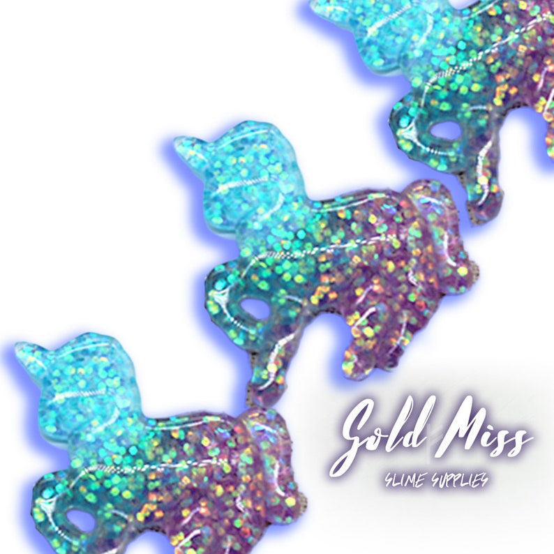 Glitter Unicorn Slime Charms Glitter Charms Blue and Purple image 0