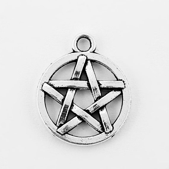 Pentagram Pentacle Star Wiccan Witch Novelty Metal Vanity Tag License Plate