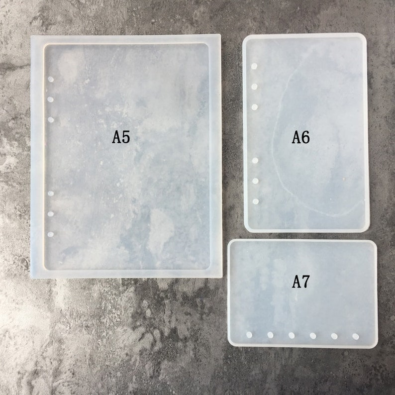 DIY Notebook Cover Silicone Mold Epoxy Resin Mould DIY Planner Flexible  Mold Resin Supplies UV Resin Pocket Note Books Personalized Planner
