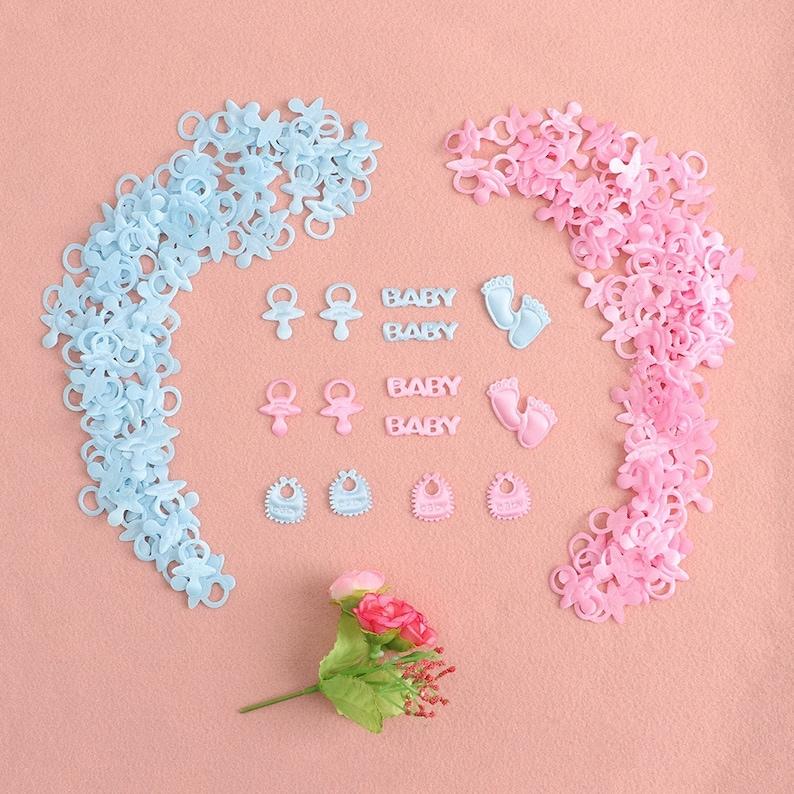 Boy or Girl Baby Shower Decor Cute Confetti Table Confetti image 0