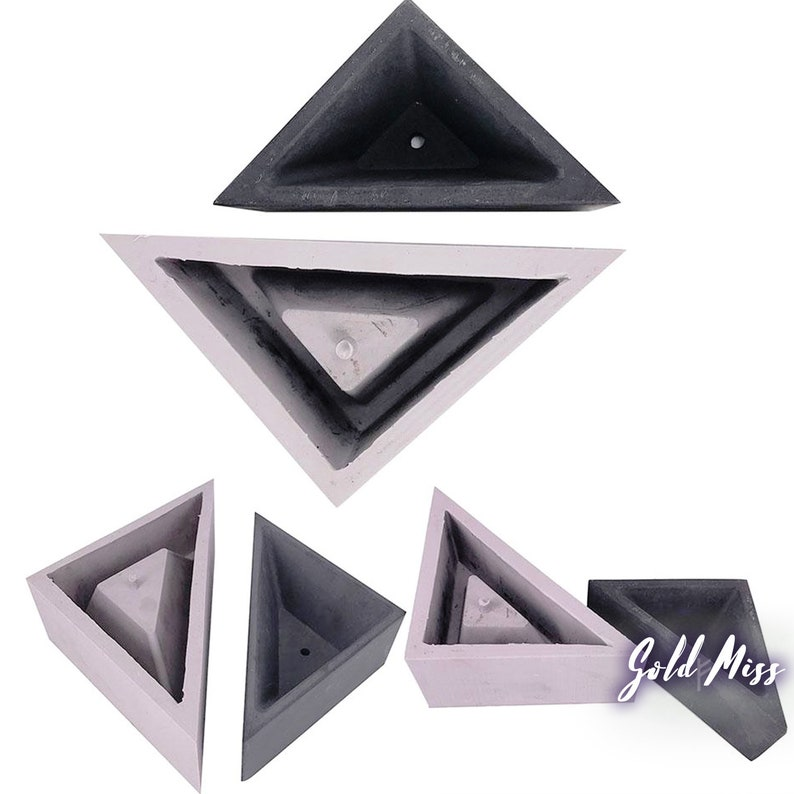 Industrial Chic Triangle Planter Mold Geometric Planter image 0