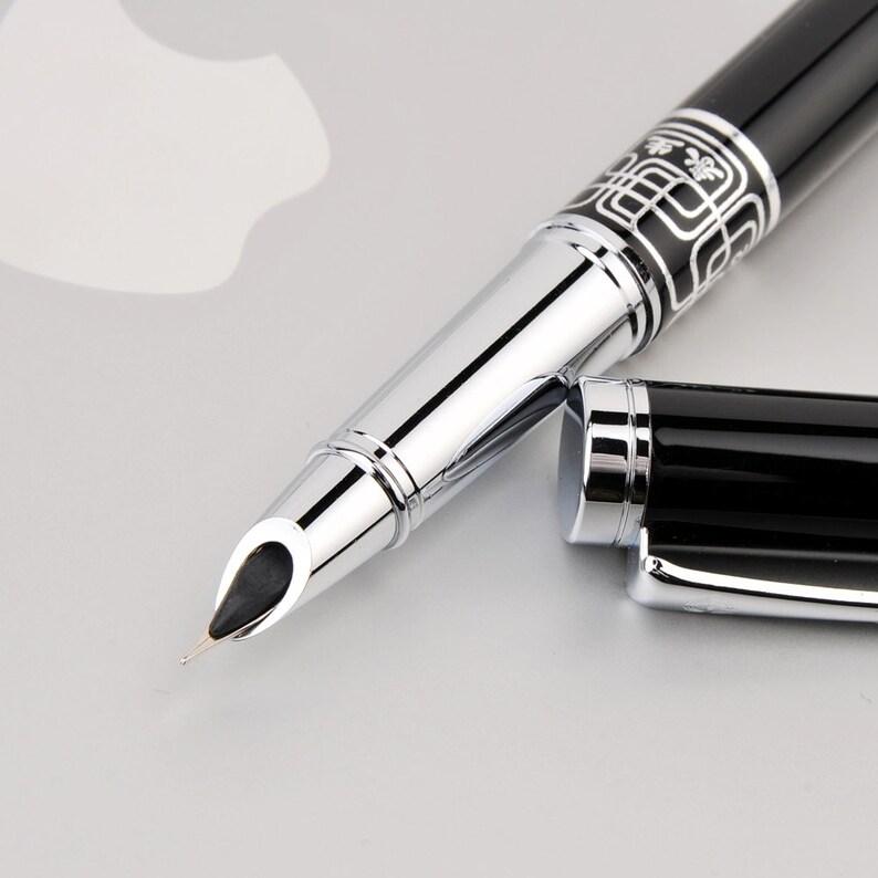 0.38mm Extra Fine Nib Fountain Pen Luxury Pen Finance Office image 0