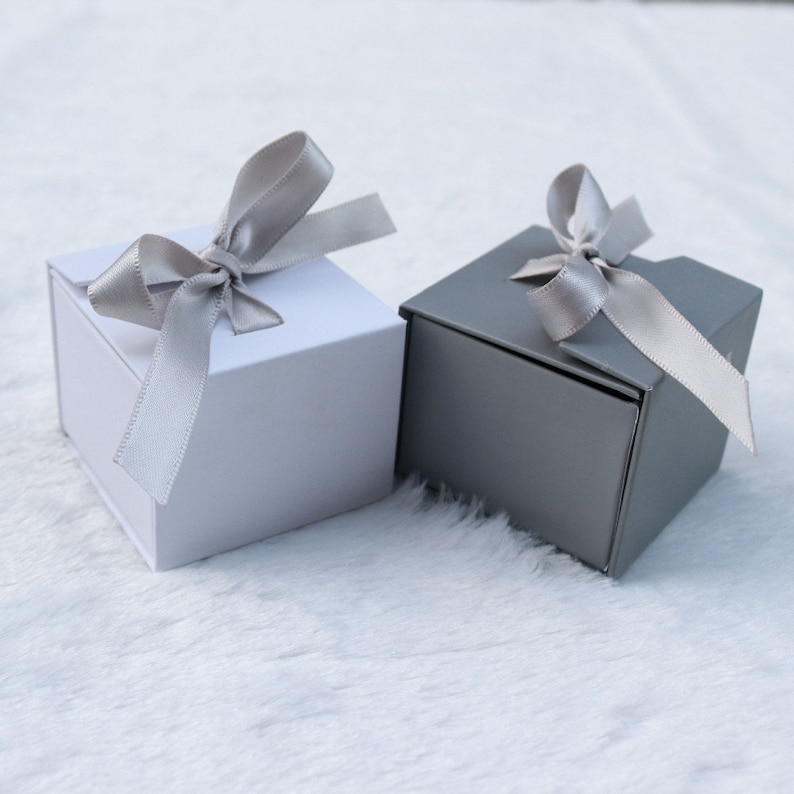 Neutral Color White Gift Box Gray Gift Box Thinking of You image 0