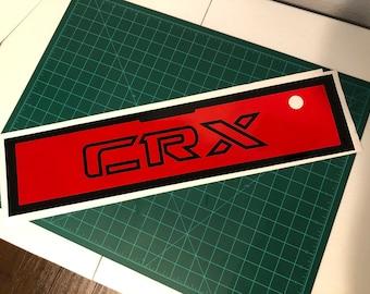 84-87 CRX Rear Panel Reflective Wrap