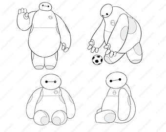 Big Hero 6 Baymax Svg Eps Png Jpg ClipartsPrintable Silhouette And Cricut File