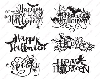 Halloween font | Etsy