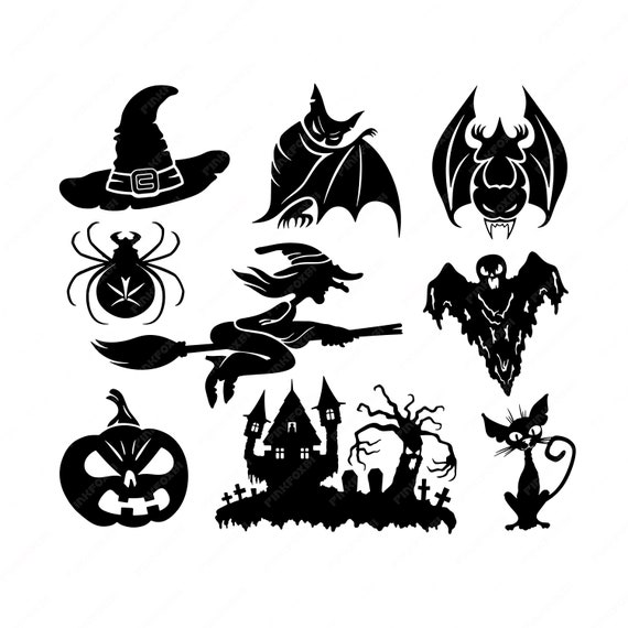 image relating to Witch Silhouette Printable named Halloween Svg/Eps/Png/Jpg/Cliparts,Printable, Silhouette and Cricut Report !!!