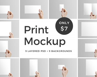Print Mockup Card In Hands Editable Invitation Mockup