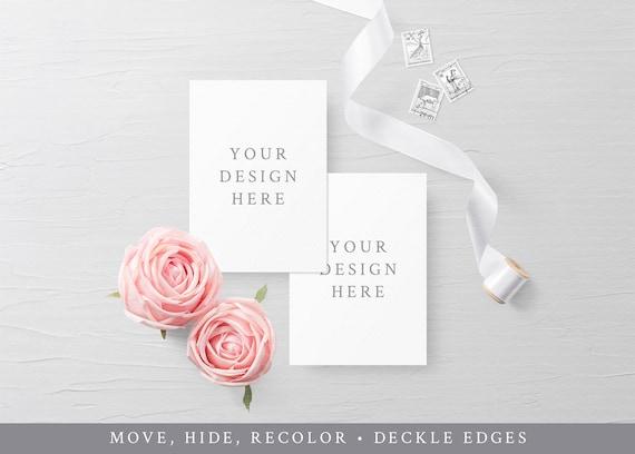 Wedding Invitation Card Mockup 5x7 Invitation Mock Up
