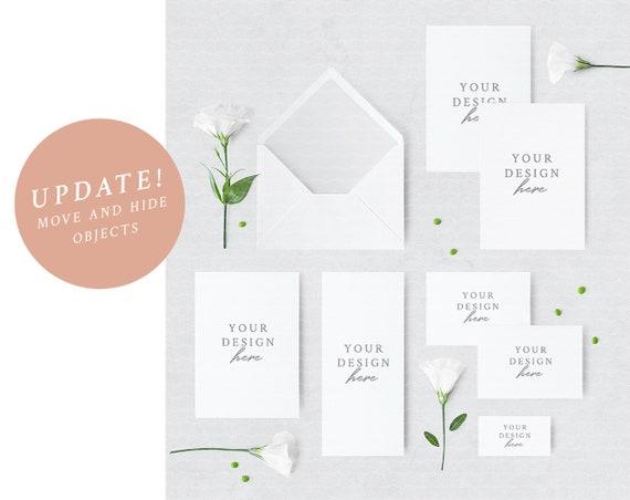 Wedding Suite Mockup Wedding Set Invitation Suite Etsy